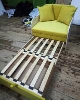 Детский диван, кровать, кресло Юниор yellow 80 ДСП Им