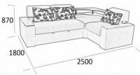 Угловой диван Асти со взаимо-заменяемыми углами ЮТ