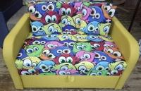 Детский диван, кровать Пуговка 110 принт Им