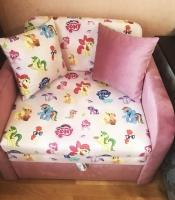 Детский диван, кровать, кресло Юниор розовый Пони 80 Им