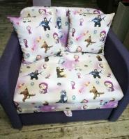 Детский диван, кровать, кресло Маша и Медведь из серии Юниор 80 Им