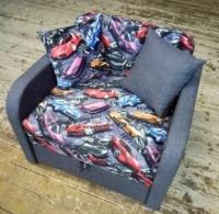 Детский диван, кресло, кровать Юниор машинки 80 Им